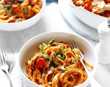 Creamy Tomato and Herb Fettuccine Vetta recipe