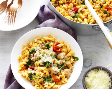 One-Pot Sausage Pasta recipe made with Vetta Pasta
