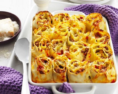 Meat lasagna roll ups recipe
