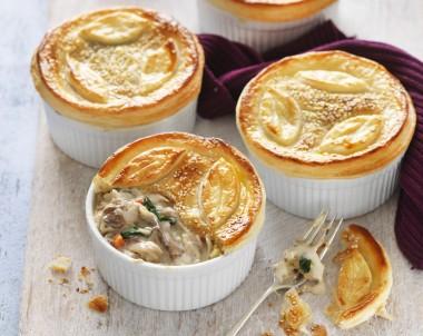 Chicken, Leek and Mushroom Individual Pies