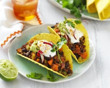 Lentil and Black Bean Tacos