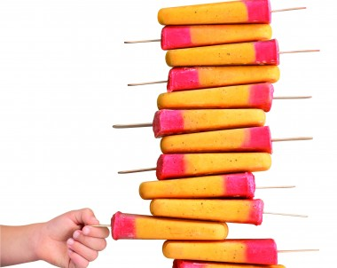 Peach and passionfruit ice pops - Breville Boss to Go Recipe