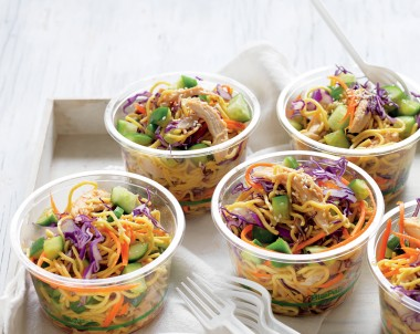 Easy chicken and noodle salad recipe