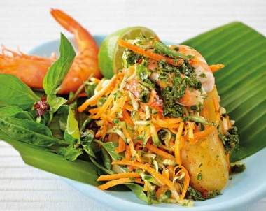 fresh easy summer prawn salad