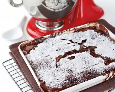 Chocolate and Ginger Self Saucing Pudding