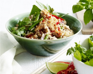 Thai Basil and Chicken Fried Rice