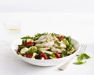 Mediterranean Chicken Breast Pasta Salad