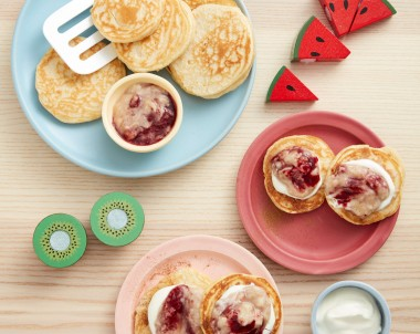 Mini almond pancakes recipe