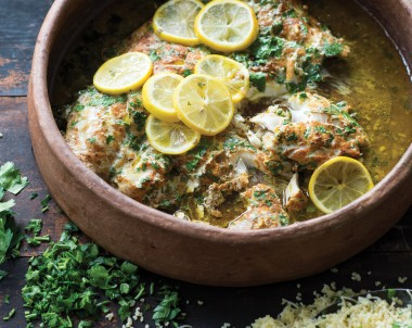 Clay Pot Snapper with Burghul Pilaf
