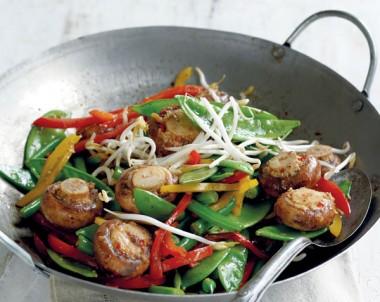 Wok Tossed Mushrooms and Veg recipe