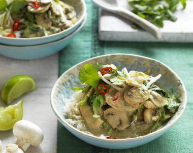 Mushroom and Chicken Green Curry