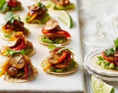 Spiced Mushroom and Avocado Tostadas