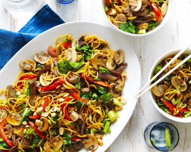 Easy Mushroom, Beef and Noodle Stir-Fry recipe