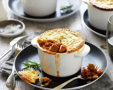 Mushroom and Lamb Shank Pie Recipe