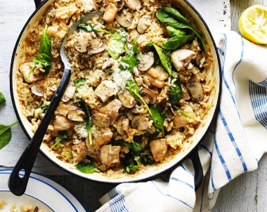 Oven-Baked Chicken and Mushroom Risotto Recipe