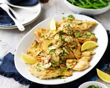 Mushroom, Lemon and Garlic Chicken Recipe