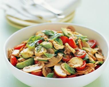 Easy mushroom, Tomato and Avocado Salad recipe