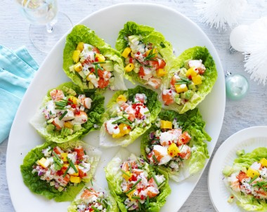 Avocado, Mango and Chilli Prawn Cups