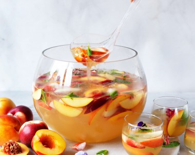 Nectarine mocktail punch recipe