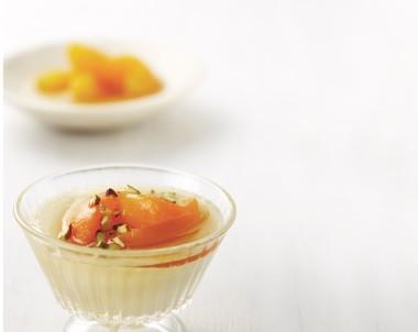 Orange Apricot Milk Pudding recipe
