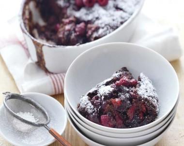 Raspberry and Chocolate Self Saucing Pudding