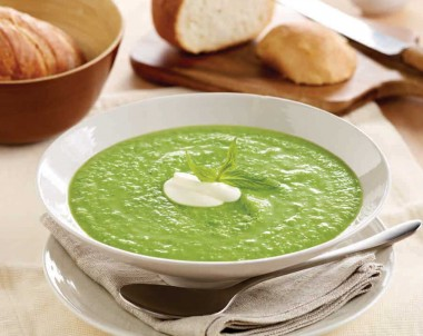 Avocado, Pea and Zucchini Soup
