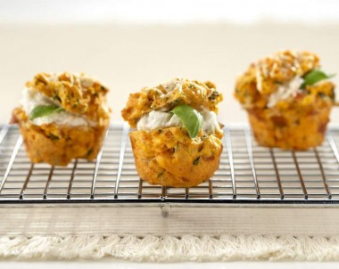 Mini Italian Parmesan and Tomato Muffins