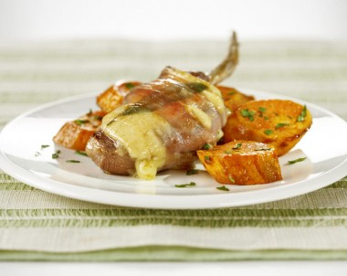 Lamb Cutlets Saltimbocca with Mediterranean Sweet Potatoes