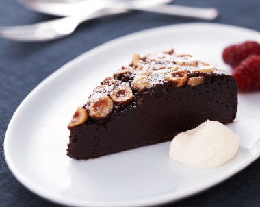 Baked Chocolate Hazelnut Mousse Cake