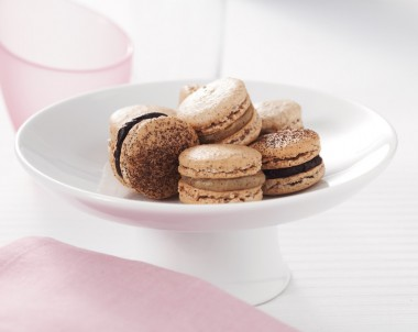 Hazelnut and Espresso Macarons