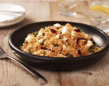 Cranberry and Feta Spiced Rice Pilaf