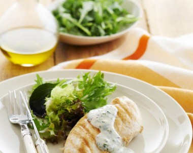 Chicken With Herb and Seeded Mustard Sauce