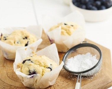 Gluten Free Orange and Blueberry Muffins