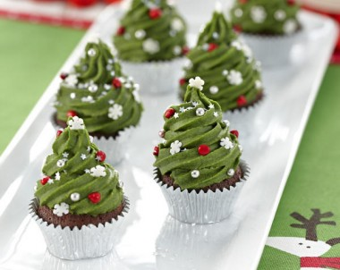 Christmas Tree Mini Mud Cakes