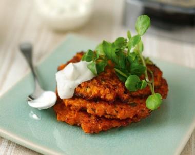 Sweet Potato & Sun-Dried Tomato Fritters