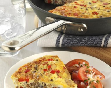 Healthy Lentil and Tuna Frittata with Tomato Salad