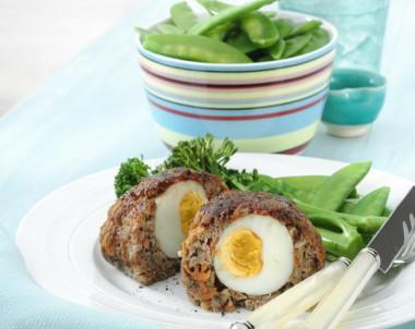 Mini Meatloaf With Hardboiled Egg