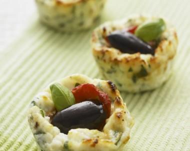 Mini Roast Capsicum and Olive Baked Ricotta