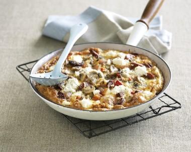 Mushroom & Chorizo Spanish Omelette
