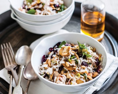 Mushroom, Cranberry & Pine nut rice Salad
