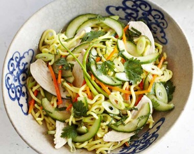 Chicken & Noodle Salad with Lime & Soy Dressing