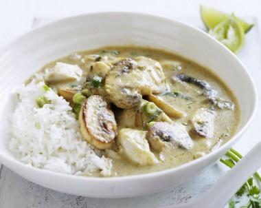 Thai Mushroom & Fish Curry