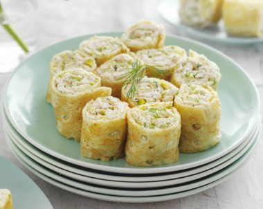 Chicken, Celery & Mayo Crepe Rolls