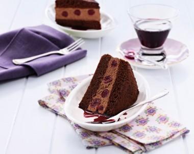 Black Forest Cheesecake Sponge Cake
