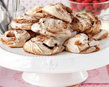 Classic Chocolate Swirl Meringues