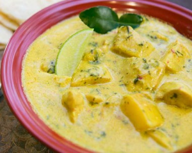 Chicken & Potato Curry with Lemon Grass, Chilli & Ginger