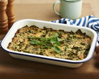 Watercress and fresh pea frittata
