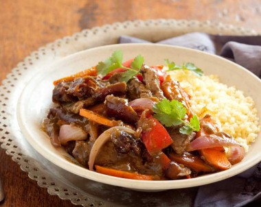 Quick Moroccan lamb stir-fry