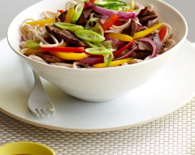 Lamb Stir-Fry with Capsicum, Onions and Ginger