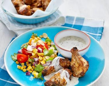Cajun Fried Chicken with Charred Corn & Tomato Salsa